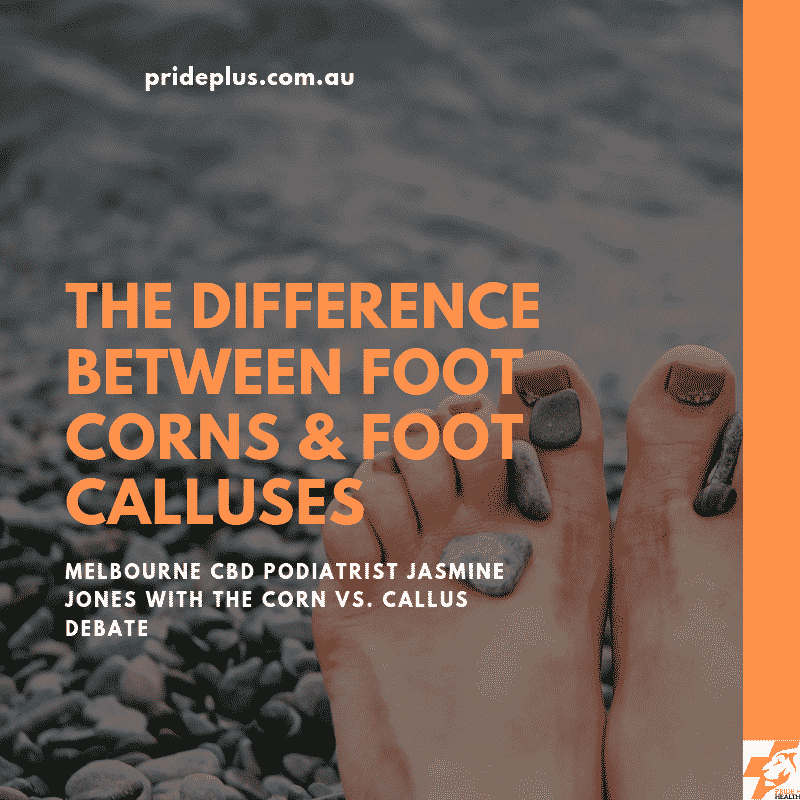 difference between foot corns & foot calluses