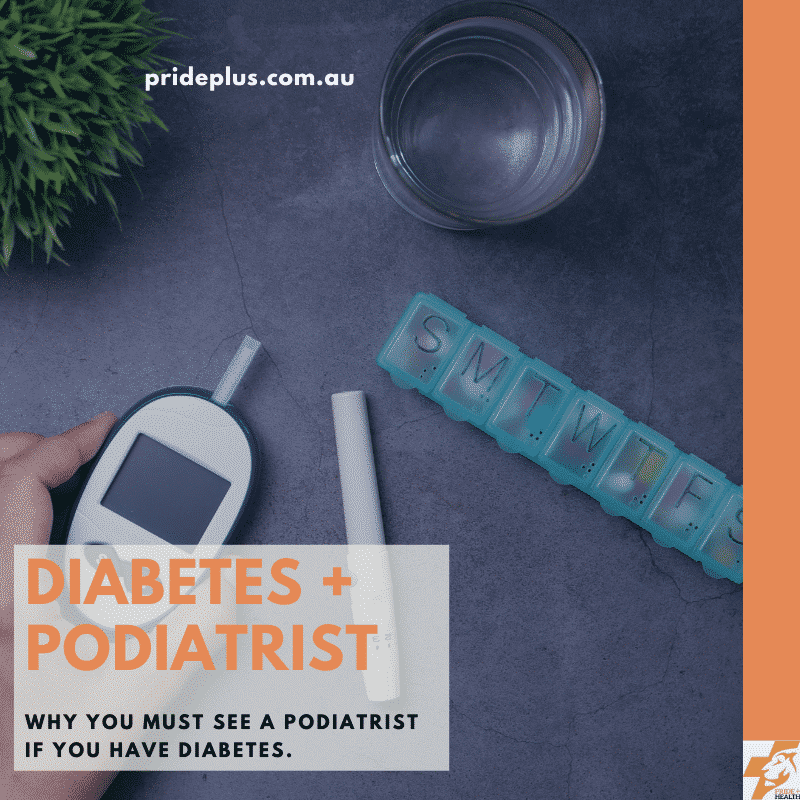 blog post on why you must see a podiatrist if you have diabetes with image of blood glucose monitor