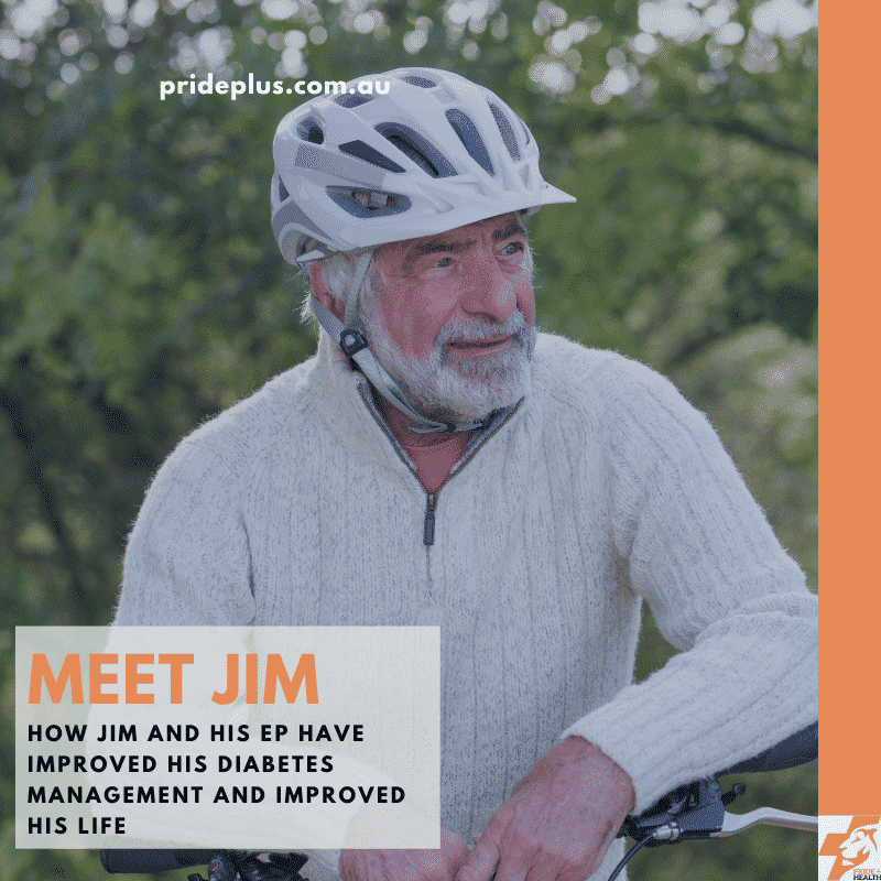 how an exercise physiologist can help with diabetes meet jim who is wearing a helmet on his head
