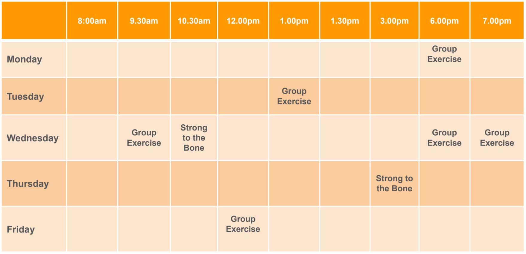 group-exercise-timetable