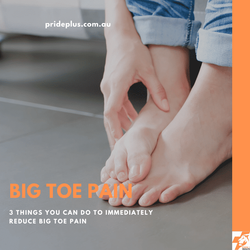 3 things you can do to treat big toe pain