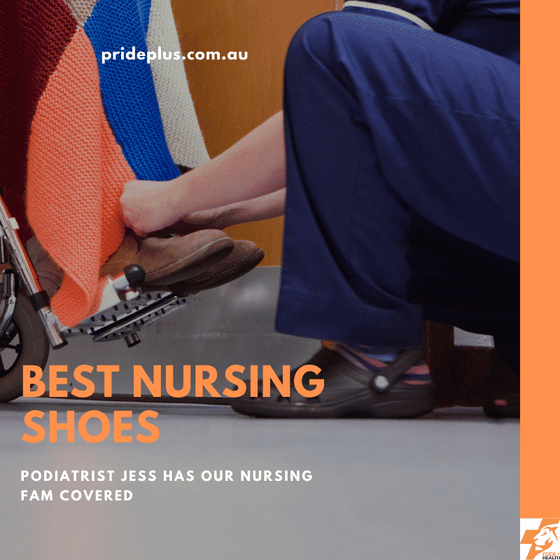 podiatrist jess giving advice on the best nursing shoes for nurses with sore feet