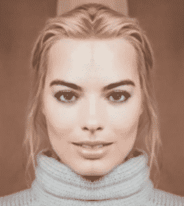 margot robbie symmetry looks a bit off doesnt it