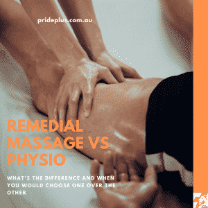 the difference between remedial massage vs phyiostherapy treatment