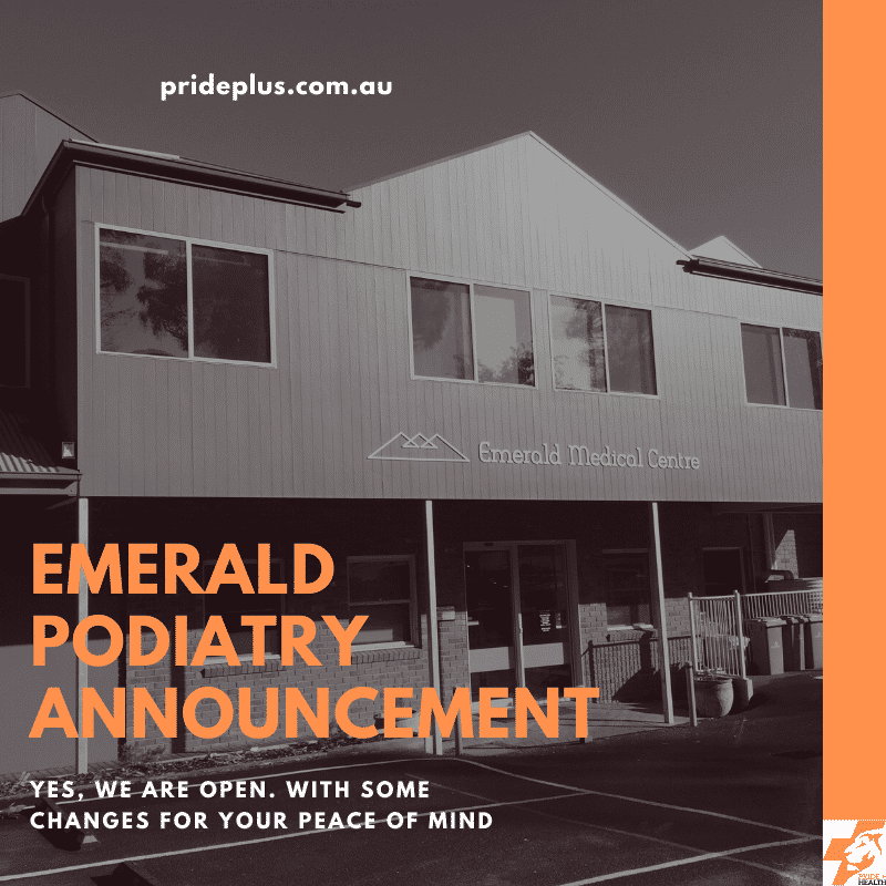 urgent emerald podiatry announcement coronavirus information