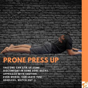 prone press up best physio exercises for lower back pain