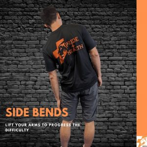 side bends the best physio exercises for lower back pain
