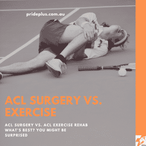 ACL surgery vs exercises for ACL rehab