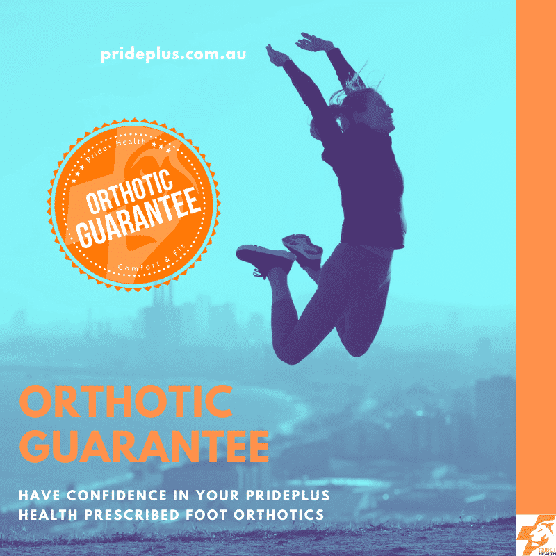 person jumping in the air happy with their pain free feet thanks to their custom orthotic guarantee