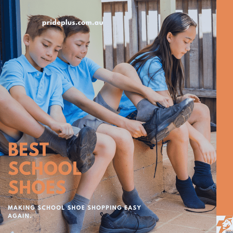 children trying on the best school shoes with a guide from expert melbourne podiatrist