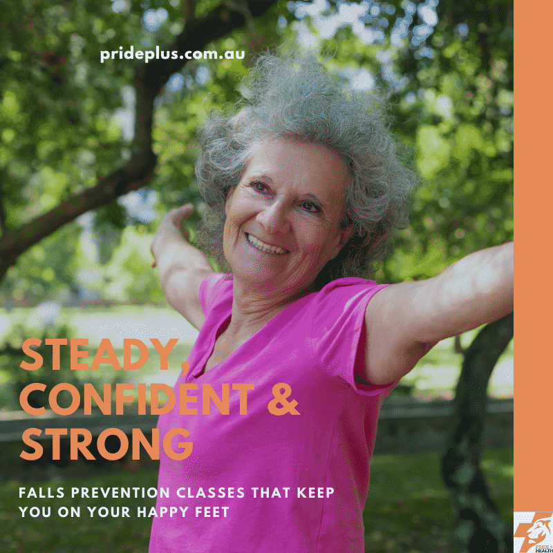 happy woman active and exercising after finishing her falls prevention exercise classes