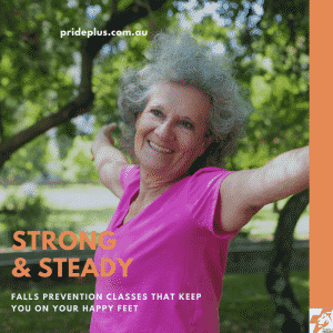 falls prevention exercise classes in pascoe vale called strong and steady with a happy lady