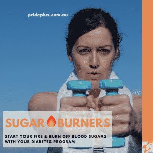 sugar burners diabetes program with women lifting weights to improve her health