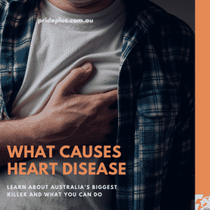 an australian expert talks about what causes heart disease while a man clutches at his heart