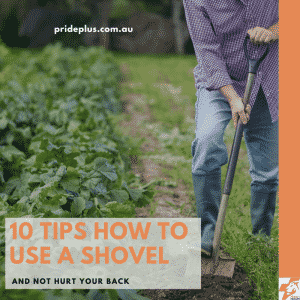 10 tips on how to use a shovel and not hurt your back as man digs up garden