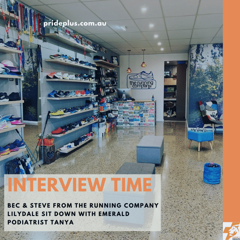 the running company lilydale interview with podiatrist tanya