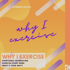 exercise right week 2021 graphic celebrating why i exercise