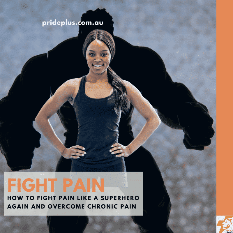 fight pain like a superhero again woman standing in front of the incredible hulk
