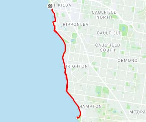 beach road and the esplanade is one of the best running tracks in melbourne great seaside views