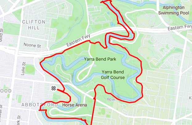 the yarra trail is one of the best running tracks in melbourne with plenty of hills and variation